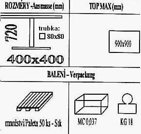 Technická data k podnoži BD001