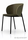 Židle SD-VELA-B-W-SOFT